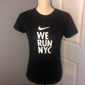 Nike We Run NYC Angel Wings Graphic Tee
